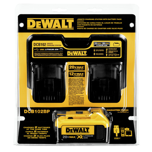 Dewalt DCB102BP 12V - 20V MAX Jobsite Charging Station with Battery Pack