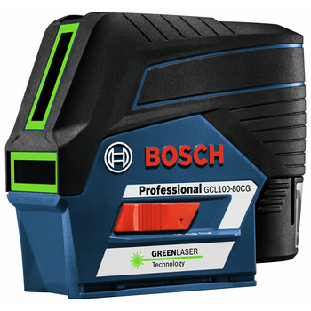Bosch GCL100-80CG 12V Green-Beam Cross-Line Laser with Plumb Points image number 4