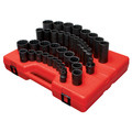 Sunex 2698 39-Piece 1/2 in. Drive 12-Point SAE Master Impact Socket Set