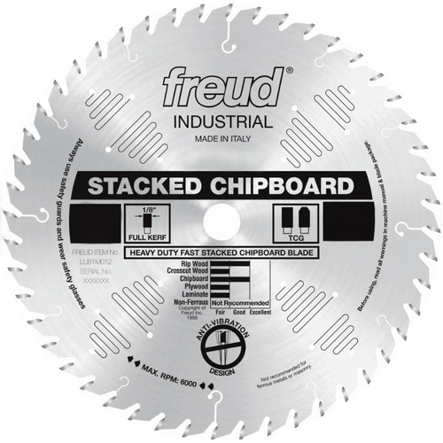 Freud LU81M016 16 in. 60 Tooth Heavy-Duty Stacked Chipboard Saw Blade