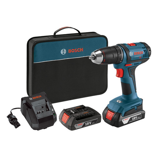 Factory Reconditioned Bosch DDB181-02-RT 18V 1.5 Ah Lithium-Ion 1/2 in. Compact Tough Drill Driver Kit
