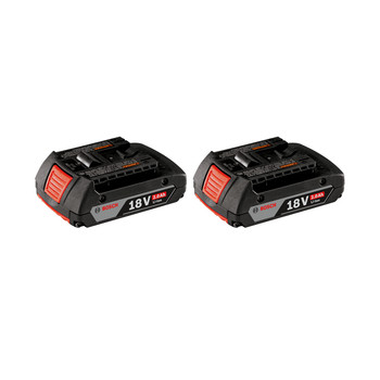 Bosch BAT612-2PK Slim 18V 2 Ah Lithium-Ion Battery (2-Pack) image number 0