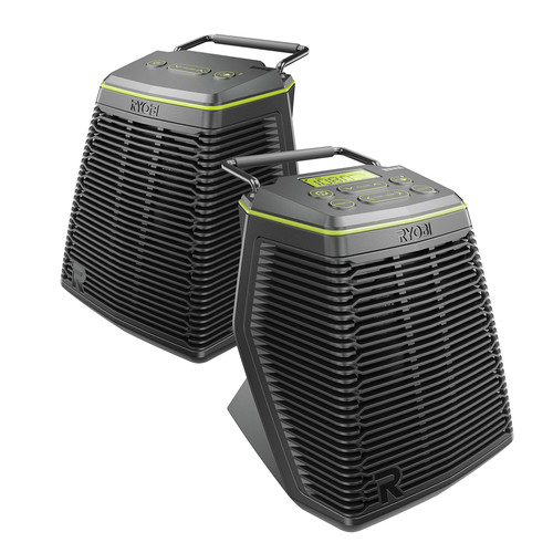 Factory Reconditioned Ryobi ZRP765 18-Volt ONE Plus Score Wireless Speaker Set with SKAA Technology