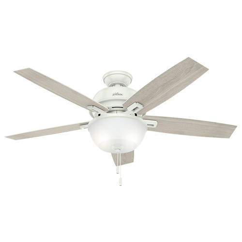 Hunter 53334 52 in. Donegan Fresh White Ceiling Fan with Light