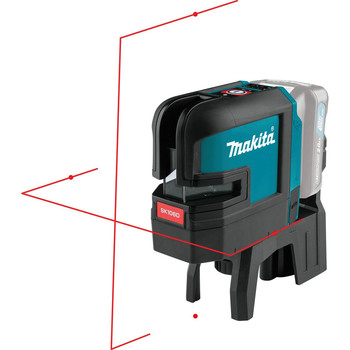 Makita SK106DZ 12V MAX CXT Lithium-Ion Cordless Self-Leveling Cross-Line/4-Point Red Beam Laser (Tool Only) image number 2