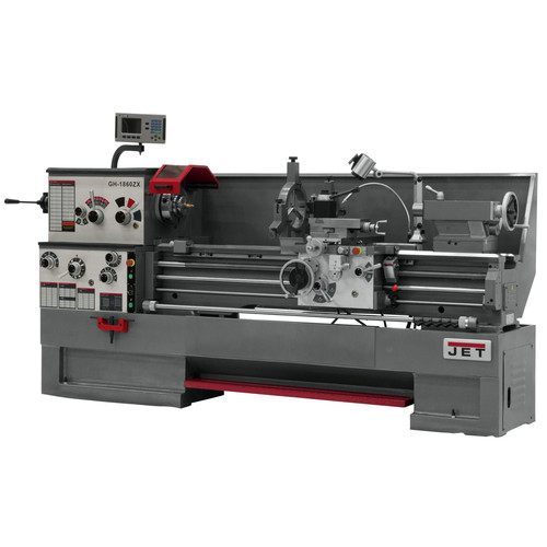 JET GH-1660ZX Lathe with NEWALL DP700 DRO and Collet Closer image number 0