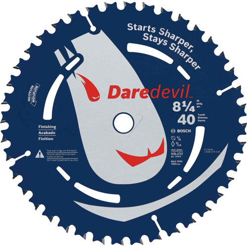 Bosch DCB840 Daredevil 8-1/4 in. 40 Tooth Fine Finish Circular Saw Blade