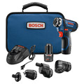 Bosch GSR12V-140FCB22 12V Max Lithium-Ion FlexiClick 5-in-1 1/4 in. Cordless Drill Driver System Kit (2 Ah) image number 0