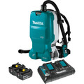Makita XCV18PTX 18V X2 (36V) LXT Brushless Lithium-Ion Cordless 1.6 Gallon HEPA Filter Backpack Dry Dust Extractor AWS Capable Kit (5 Ah) image number 0