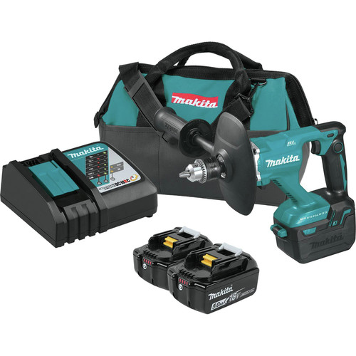 Makita XTU02T 18V LXT Lithium-Ion Brushless 1/2 in. Cordless Mixer Kit (5 Ah) image number 0