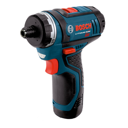 Factory Reconditioned Bosch PS21-2A-RT 12V Max Lithium-Ion 1/4 in. Cordless Pocket Driver Kit (2 Ah) image number 0