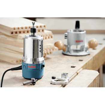 Bosch 1617EVSPK 12 Amp 2.25 HP Combination Plunge and Fixed-Base Router Kit image number 5