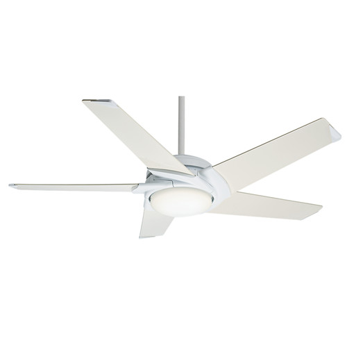 Casablanca 59105 54 in. Stealth DC Snow White Ceiling Fan with Light and Remote