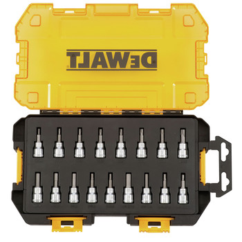Dewalt DWMT73806 17-Piece Stackable 3/8 in. Drive Bit Socket Set image number 1