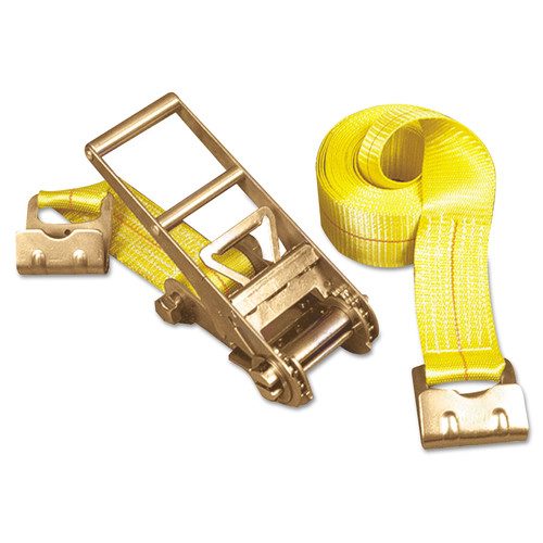 Keeper Inc, The 130-04637 15,000 lbs. Capacity 3 in. x 27 ft. Ratchet Tie-Down Flat Hook Ends Strap