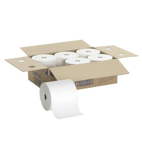 Georgia Pacific Professional 26470 Hardwound Roll Paper Towel, Nonperforated, 7.87 X 1000ft, White, 6 Rolls/carton image number 0