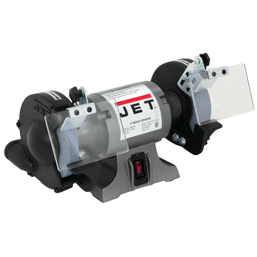 JET JBG-6A 6 in. 1/2 HP 1-Phase Industrial Bench Grinder (White)