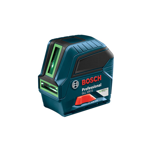 Factory Reconditioned Bosch GLL 100 G-RT Green Beam Self-Leveling Cross Line Laser image number 0