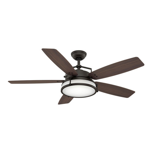 Casablanca 59114 Caneel Bay 56 in. Transitional Maiden Bronze Smoke Walnut Plastic Outdoor Ceiling Fan