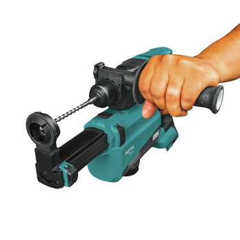 Makita XRH12ZW 18V LXT Lithium-Ion Brushless 11/16 in. AVT SDS-PLUS AWS Capable Rotary Hammer with HEPA Dust Extractor (Tool Only) image number 5