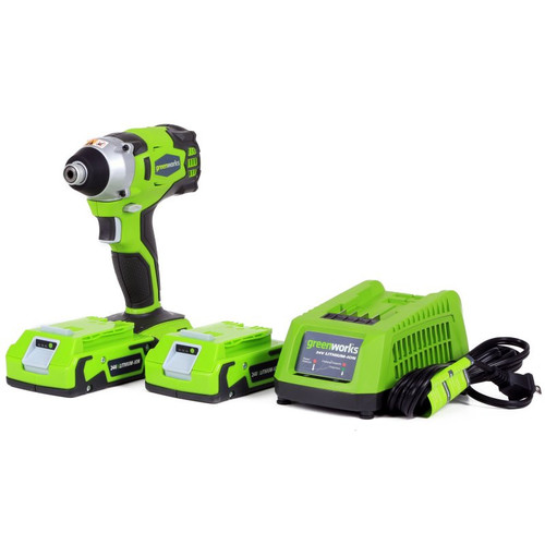 Greenworks 37042 24V Cordless Lithium-Ion DigiPro Impact Driver