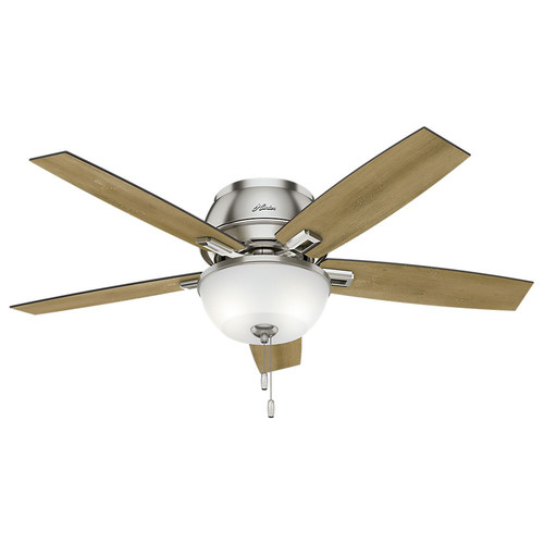 Hunter 53344 52 in. Donegan Brushed Nickel Ceiling Fan with Light