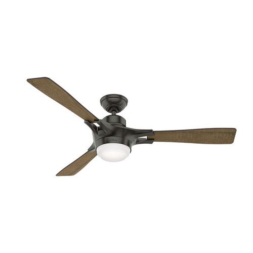 Hunter 59379 WiFi Enabled HomeKit Compatible  54 in. Signal Noble Bronze Ceiling Fan with Light with Integrated Control System - Handheld
