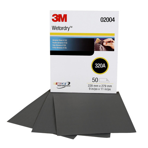 3M 2004 Wetordry Tri-M-ite Sheet 9 in. x 11 in. 320A (50-Pack) image number 0