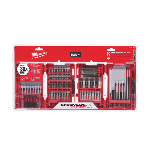 Milwaukee 48-32-4006 SHOCKWAVE Alloy76 Impact Duty Drill and Drive 40 Piece Set