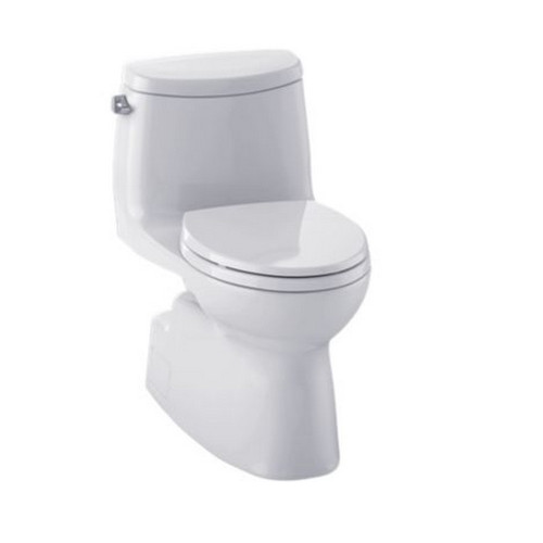 TOTO MS614114CEFG#11 Carlyle II Elongated 1-Piece Floor Mount High Efficiency Toilet (Colonial White)