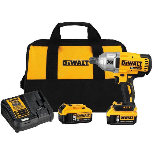 Dewalt DCF897P2 20V MAX XR 5.0 Ah Cordless Lithium-Ion Brushless 3/4 in. Hog Ring Impact Wrench Kit