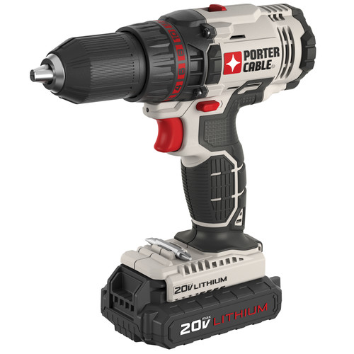 Factory Reconditioned Porter-Cable PCC601LBR 20V MAX 1.3 Ah Cordless Lithium-Ion 1/2 in. Drill Driver Kit