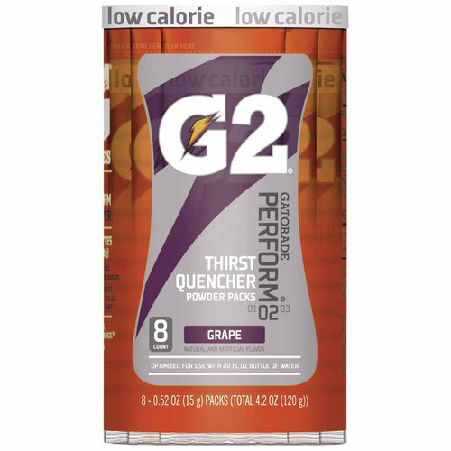 Gatorade 13167 G2 Powder Packets, Grape, 0.52 oz, Packet