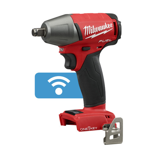 Factory Reconditioned Milwaukee 2759B-80 M18 FUEL 18V Cordless Lithium-Ion 1/2 in. Compact Impact Wrench with Friction Ring and ONE-KEY Connectivity (Bare Tool)