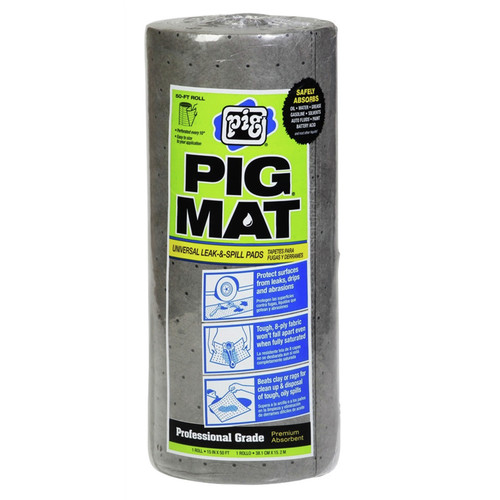New Pig 25201 15 in. x 50 ft. Universal Light-Weight Absorbent PIG Mat Roll image number 0