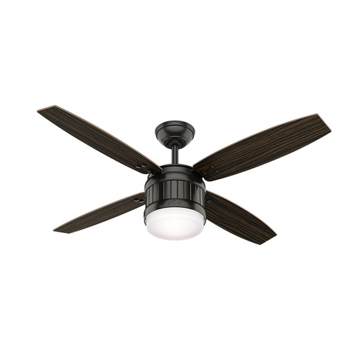 Hunter 59315 52 in. Seahaven Noble Bronze Ceiling Fan with Light and Handheld Remote