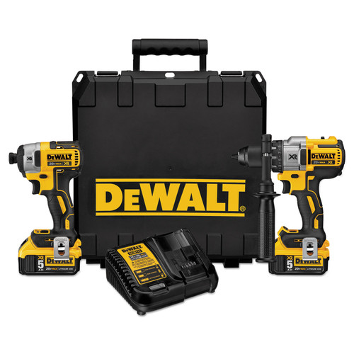 Dewalt DCK299P2 20V MAX XR Brushless Lithium-Ion Hammer Drill & Impact Driver Combo Kit image number 0