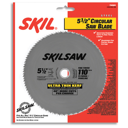 Skil 74501 5-1/2 in. 110-Tooth Steel Circular Saw Blade