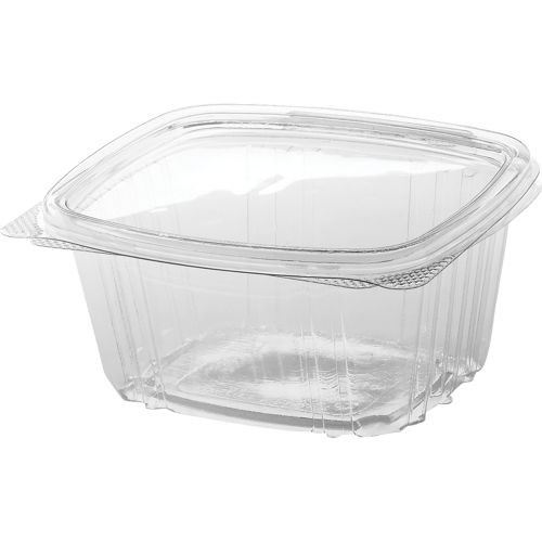 Genpak AD16 16 oz. Hinged Deli Container (200-Pack)
