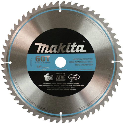 Makita A-93712 12 in. 60-Tooth Smooth Crosscutting Miter Saw Blade