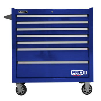 Homak BL04036072 36 in. Pro 2 7-Drawer Roller Cabinet (Blue)
