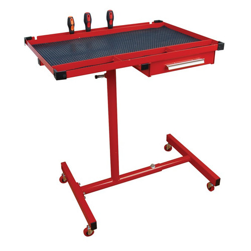 ATD 7012 Heavy-Duty Mobile Work Table with Drawer image number 0