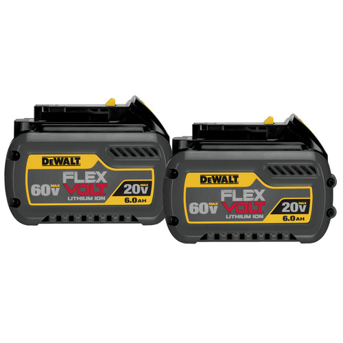 Dewalt DCB606-2 20V/60V MAX FLEXVOLT 6 Ah Lithium-Ion Battery (2-Pack) image number 0