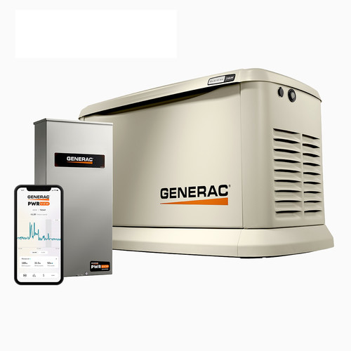 Generac 7210 Guardian 24kW Home Standby Generator with PWRView Transfer Switch image number 0