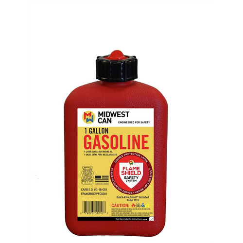 Midwest Can 1210 1 Gallon plus 4 oz. for Oil Mixture FMD Gas Can image number 0