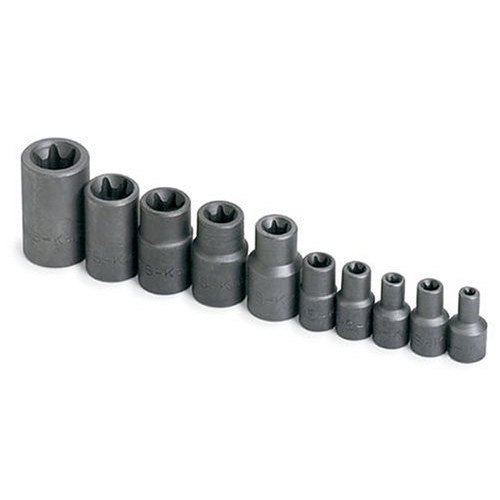SK Hand Tool 19760 10-Piece 1/4 in., 3/8 in. & 1/2 in. Drive Female Torx Socket Set