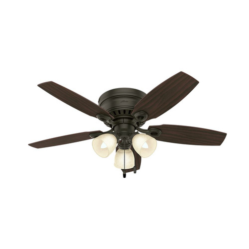 Hunter 52086 46 in. Hatherton New Bronze Ceiling Fan with Light