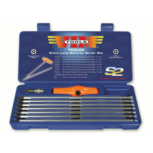 VIM Tool TPXL08 10-Piece 5-Point Security Driver Set image number 0