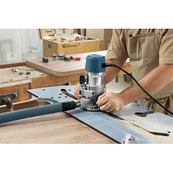 Bosch 1617EVSPK 12 Amp 2.25 HP Combination Plunge and Fixed-Base Router Kit image number 7