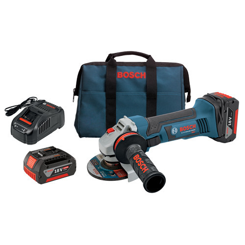 Bosch GWS18V-45-01 18V 4.0 Ah Cordless Lithium-Ion 4-1/2 in. Angle Grinder Kit